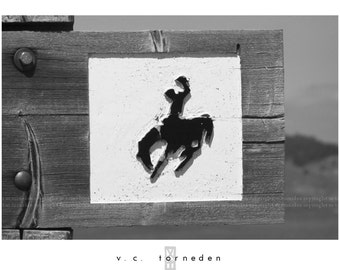 wyoming, fine art black & white photographic print.