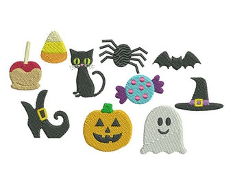 Halloween Minis Embroidery Design Set - Instant Download