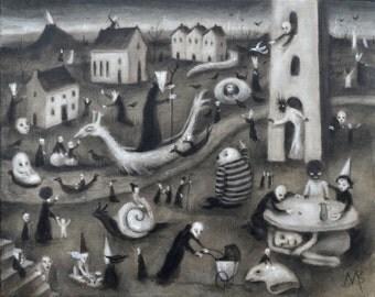 Gathering Storm Original Painting on Canvas Art Artwork Contemporary