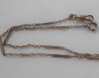 Antique JB Gold Filled Filigree Pocket Watch Chain