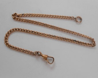 J & B 1883 Antique Yellow Gold Filled Pocket Watch Chain