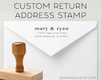 classic wooden return address stamp! custom stamp, personalized stamp, rubber stamp, wood stamp!
