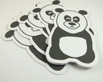 Party Invitation Cards, Pack of 5, Pack Party Cards, Panda Party Invite Cards, Panda Notelets, Children Birthday Party Invites, Kids Party