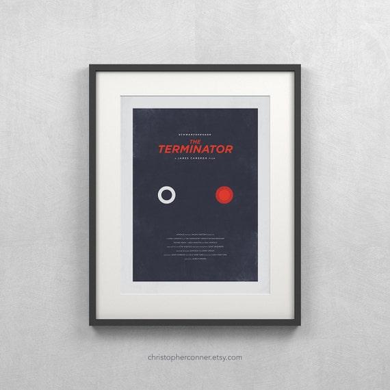 "The Terminator Poster ~ 12x16"" Minimalist Movie Poster, Sarah Connor"