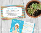 Rodan and Fields Business Cards, Digital Download, Custom Business Card