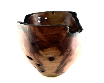 Wood Bowl No.1606103-Natural Edge Carboncillo Wood