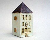 Tall Building, Gold Squares  House, Ceramic Sculpture , Architecture, Townhouse