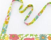 1 yard - Liberty of London Tana Lawn fabric, bias tape - print: Poppy and Daisy J