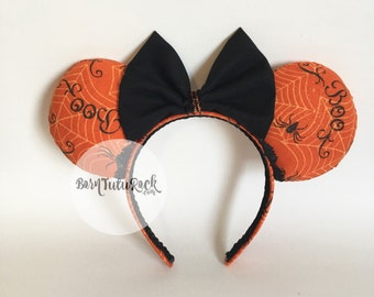 Halloween Mouse Ears // Boo Mouse Ears // Spider Mouse Ears // Trick or Treat // READY to SHIP // by Born Tutu Rock