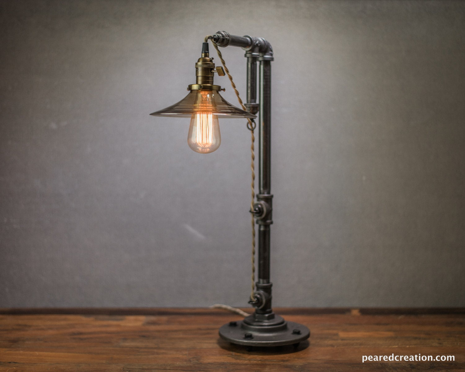 industrial furniture table lamp edison bulb lamp lamp. Black Bedroom Furniture Sets. Home Design Ideas