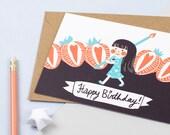 Lily Happy Birthday Greeting Card