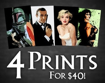 4 for 40 Special - Pick any 4 Posters from the entire shop!!