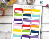 Split Rectangle, Choice of Size - Perfect for Erin Condren, Limelife, Mambi and Plum Paper Planners