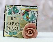 MY HAPPY PLACE, mosaic wall art, gift