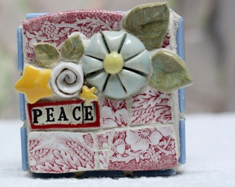 PEACE, mosaic art