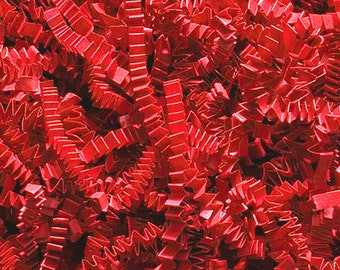 Crinkle Cut Paper Basket Filler Shred- Red