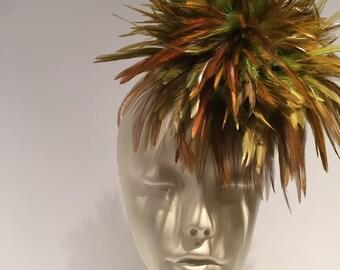 Green Fascinator- Feather headband -Derby fascinator- Wedding-Green feather-fascinator- Green headpiece- Kelly hat- Kentucky Derby
