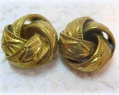 Art Deco Vintage 16MM Brass Unique Large Heavy Love Knot Bead Spacer