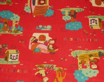 Little Red Riding Hood Japanese Cotton Fabric, Fabric By The Yard, Cotton Fabric Kawaii Fabric,  Cotton Fabric,Fairy Tale Fabric