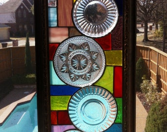 Custom Stained glass panels .