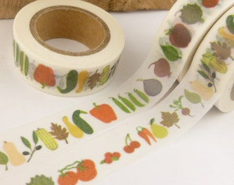 Garden Vegetable and Fruits Washi Tape - I1692
