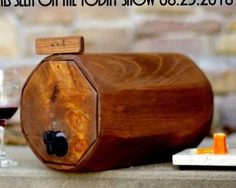 Wine Barrel, 4 QTY. - Wedding Reception - Gift Idea - Rustic Wedding Decor - Wine Decanter-QTY. 4