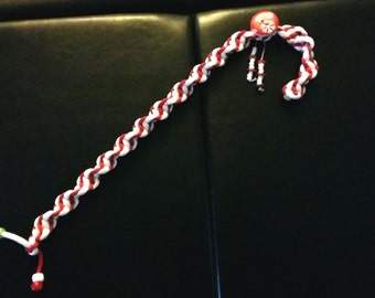 Large Paracord Candy Cane/Christmas Ornament/Paracord Ornament~Native Made