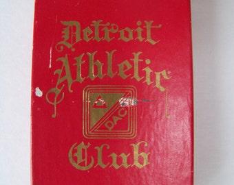 Vintage Detroit Athletic Club Playing Cards.Detroit Memorabilia.Detroit Michigan.Detroit Souvenir.Deck of Cards.Men's Club.Private Club.