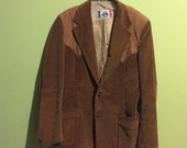 Leather & Corduroy country western blazer