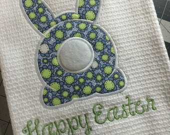 Easter Bunny Dish Towel - Easter Bunny Tea Towel - Tea Towels - Dish Towels - Easter Gifts - Waffle Weave Tea Towels