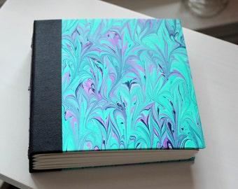 Handmade Blank Book - Notebook, Travel Journal, Art Journal, Guest Book - Hand-Marbled Hard Cover - item #85/100