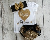 Personalized- Second Birthday outfit- 2nd Birthday Outfit- Black and gold  Birthday Outfit- 2 birthday shirt- Sequin shorts