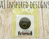 Hello//Thanks Friend//Spring Stamps// Clear Stamp Set//Sale//Destash