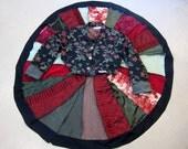 Victorian Tapestry Maxi Coat Swing Coat Fit and Flare Boho Coat Size XL  Gypsy Coat Refashioned Hippi Coat