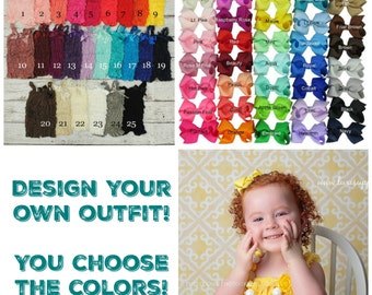 Lace Petti Romper & Hair Bows Set - 26 Romper Colors Available! You Choose the Color and Size! PLEASE READ Listing! Birthday Party Outfit!