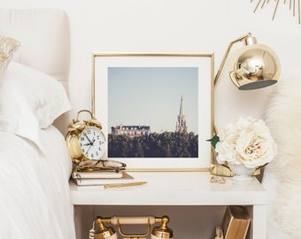 Paris Photography Print - Paris skyline - Green