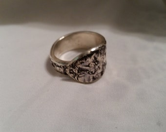 Spoon Ring, Silverware Ring, Silverware Jewelry, Spoon Jewelry, Vintage, silver ring