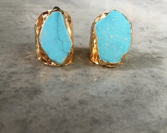 Turquoise Howlite Rings