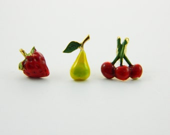 Fruit Pins Trio