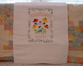 Coneflower Seeds  Flour Sack Dish Towel