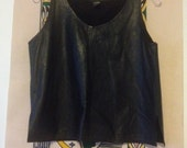 Black leather tank size small