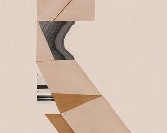 Abstract composition 654  - modern art - minimalism - 60 x 84 cm - A1 - Single original fine art print