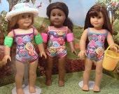 Emojis Tank Style Bathing Suit for American Girl Dolls