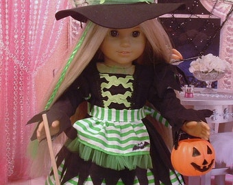 Happy Halloween Witch Costume for American Girl Dolls