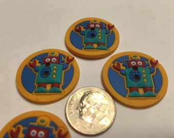 4 rubber Robot buttons, 25 mm (18)