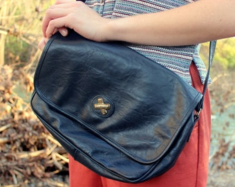 Mitzi Navy Blue Shoulder Bag
