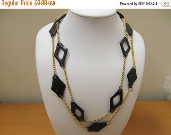 ON SALE Vintage Modernist 2pc Station Necklace Set Item K # 2917