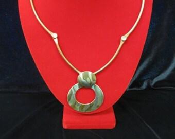 ON SALE Very Interesting Copper Metal Sculpture Necklace Item K # 1341