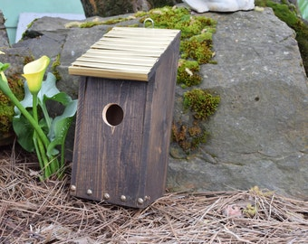 Decorative Bluebird Birdhouse with Bronze roof (29