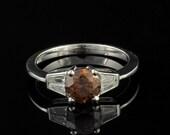 1.04 Ct natural fancy solitaire diamond unique ring
